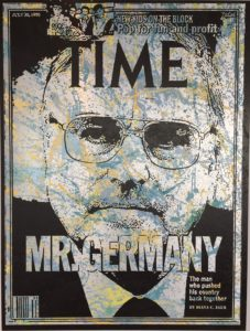 Helmut kohl, Kanzler, diana eger, mr. germany, kunst, art, frankfurt, time, Magazin, cover, Bundeskanzler