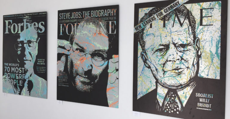 diana eger, auftrtagskunst, costomized, art, individuelle geschenke, geschenke, gift, individuele, frankfurt, remittance, willy Brandt, steve jobs, bill gates, time, Forbes, fortune