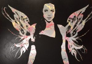 aluminium, Angel, Angelina Jolie, Wings, Flügel, Auftragskunst, neon, dots, spraypaint, Auftragsarbeit, kunst, costomize art, remittance art, Frankfurt, diana eger, künstler, aluminium, canvas, collage, wonderwoman, life, beautyful, whyndham grand hotel, whyndham Frankfurt, Romy Schneider, vogue, paris, London