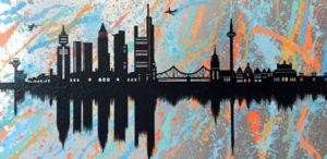 ffm, skyline, frankfurt, diana eger, Kunst, art, Auftragskunst, Stadt