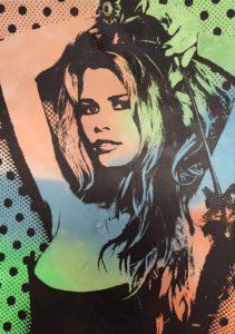 Claudia Schiffer, diana eger, kunst, Frankfurt, art, aluminium, diana eger, canvas, Auftragskunst, customized art, Leinwand