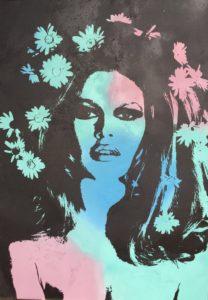 Brigitte Bardot, diana eger, kunst, Frankfurt, art, aluminium, diana eger, canvas, Auftragskunst, customized art, Leinwand