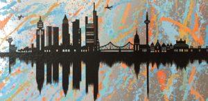 Frankfurt, diana eger, Kunst, skyline, Kunstkurs, malkurs, Skyline, frankfurtliebe