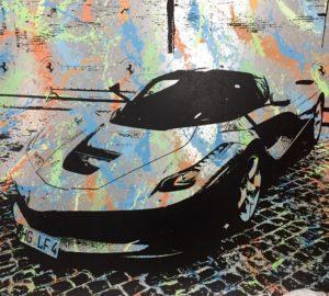 Auftragsarbeit, diana eger, auftragskunst, customized, art, individuelle geschenke, geschenke, gift, individuelle, frankfurt, remittance art, la Ferrari, Enzo, Ferrari