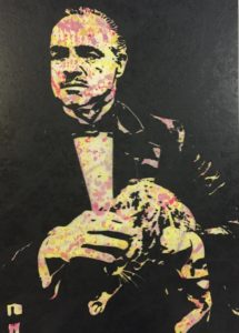 diana eger, art, kunst, Frankfurt, Popart, Auftragskunst, shop, customized art, Künstlerin, wood, godfather, Marlon Brando
