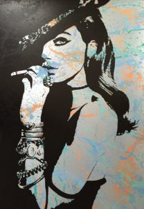 Smoking Beauty, 95cm x 135cm, Spraypaint on Aluminium, single piece, 2016.