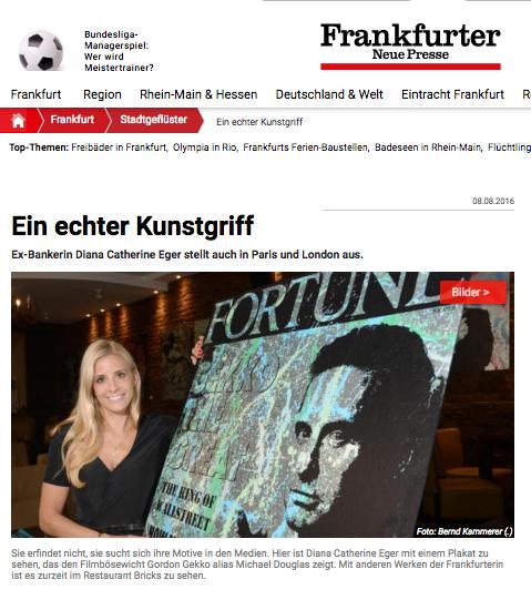 Diana Eger, Sabrina Setlur, frankfurt, art, kunst, presse, press, Zeitung, RTL, TV, ARD, Pro7, FNP