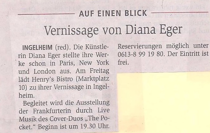 Diana Eger, Sabrina Setlur, frankfurt, the one Magazin, media, kunst, presse, press