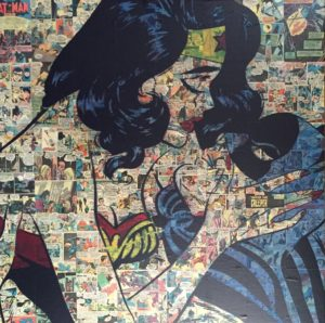Auftragskunst, Auftragssrbeit, kunst, costomize art, remittance art, Frankfurt, diana eger, künstler, disney, canvas, batman, comic, collage, wonderwoman