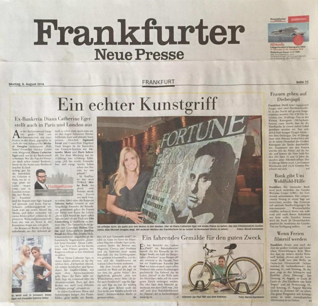 Diana Eger, Sabrina Setlur, frankfurt, prestige, media, kunst, presse, press, Zeitung