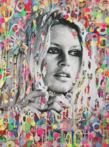 diana eger, kunst, frankfurt, aufragskunst, portrait, Brigitte Bardot