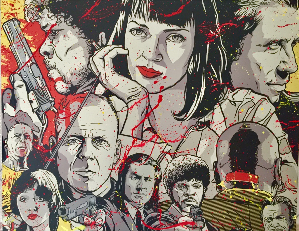 Quentin Tarantino, spraypaint, Frankfurt, diana eger, künstler, pulp fiction, blood