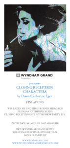 Vernissage, Diana Eger, Ausstellung, frankfurt, exhibition, art show, Wyndham grand, hotel