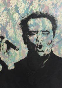 jack Nicholson, diana eger, art, frankfurt, Kunst, Zigarre