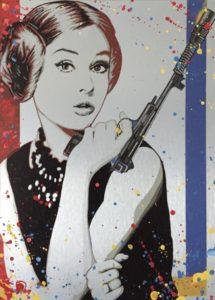 Auftragskunst, Auftragssrbeit, kunst, costomize art, remittance art, Frankfurt, diana eger, künstler, dagobert, aluminium, darth vader, star wars, Princess leia, prinzessin leia, Audrey Hepburn