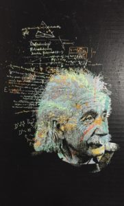 diana eger, art, kunst, Frankfurt, Popart, Auftragskunst, customized art, albert einstein, Mathematiker, Physiker