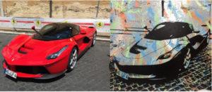 Auftragsarbeit, diana eger, auftragskunst, customized, art, individuelle geschenke, geschenke, gift, individuelle, frankfurt, remittance, Ferrari