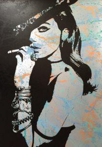 smoke, seduction, Auftragskunst, Auftragssrbeit, kunst, costomize art, remittance art, Frankfurt, art on aluminium, diana eger, künstler, wanted, aluminium, canvas, alu dibond, vernissage, ausstellung, exhibition, romy schneider, brigitte bardot, vogue,