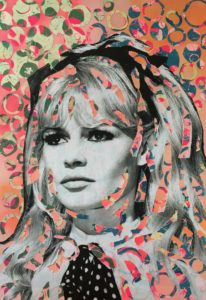 diana eger, art, kunst, Frankfurt, Popart, Auftragsarbeit, shop, costomized art, Künstlerin, Brigitte Bardot, bb, model