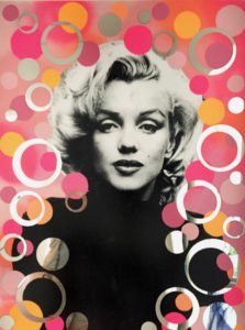 collage, diana eger, art, kunst, Frankfurt, Popart, customized art, Marilyn Monroe, spiegel, Auftragskunst
