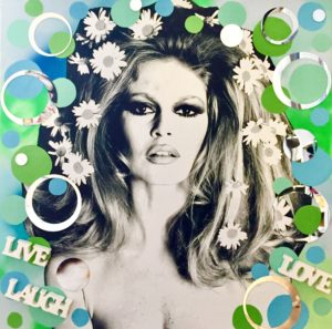 diana eger, art, kunst, Frankfurt, Popart, Auftragsarbeit, shop, customized art, Brigitte Bardot, collage