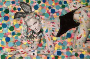 Kate Moss, Playboy, Bunny, London, Diana Eger, Frankfurt, Art, Kunst, Auftragskunst, customized art, remittance art
