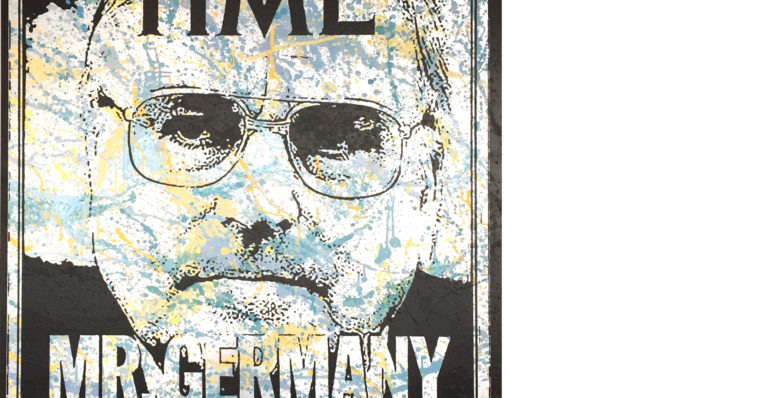 diana eger, art, kunst, Frankfurt, Popart, Auftragsarbeit, shop, customized art, Helmut Kohl, CDU, Time, Germany, Kanzler