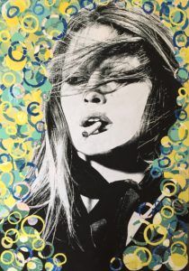 diana eger, art, kunst, Frankfurt, Popart, Auftragskunst, shop, customized art, Künstlerin, Brigitte Bardot, Collage, St. Tropez