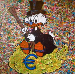 Diana Eger, kunst, art, frankfurt, Euro, EZB, Auftragskunst, moneyart, Comic, comicart
