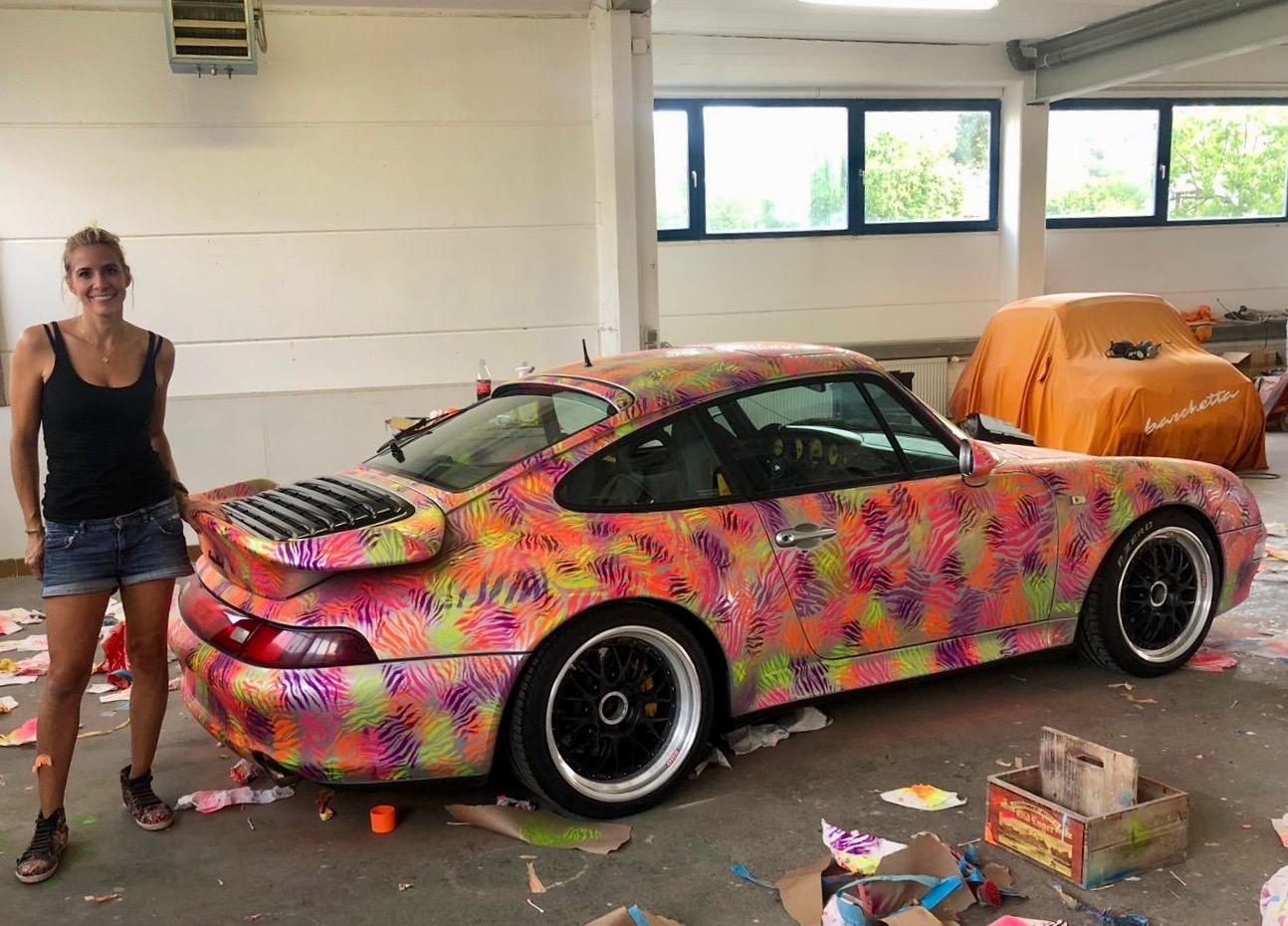 Steffen Retzlaff, Diana Eger, dianaeger, Artcar, art, Frankfurt, Porsche, 993, Popart, kunst, PorscheTurbo