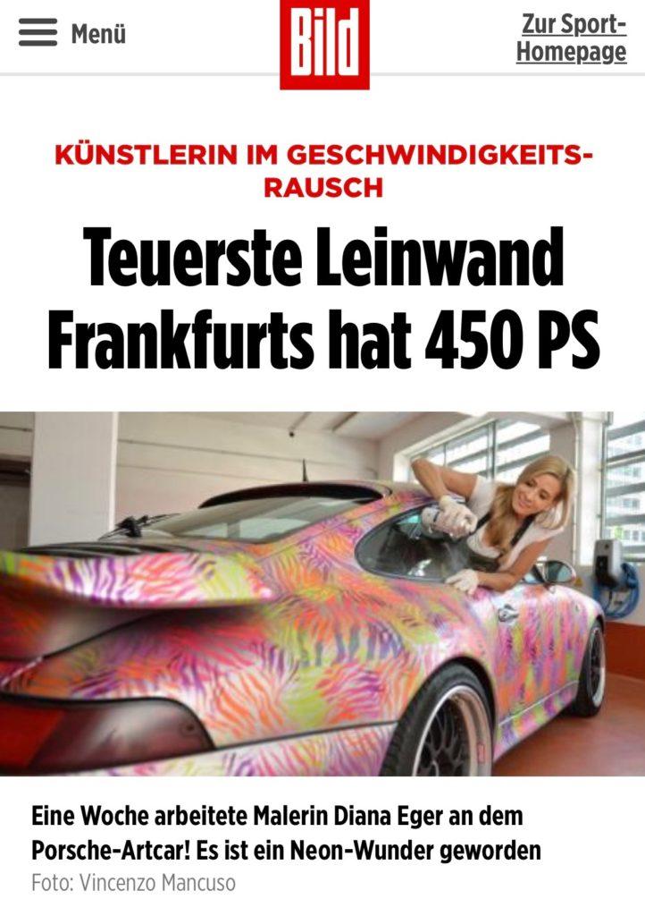 Diana Eger, dianaeger, Artcar, art, Frankfurt, Porsche, 993, Popart, kunst, PorscheTurbo