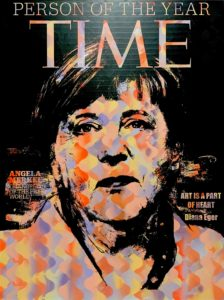 Diana Eger, art, kunst, Frankfurt, Popart, Skyline, angela Merkel, cdu